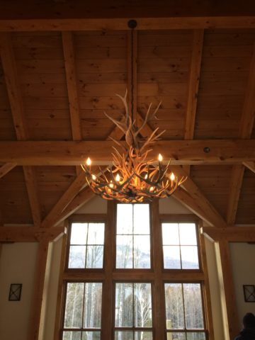 elk/deer chandelier large