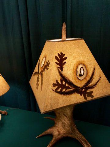 Table Lamp moose antler3