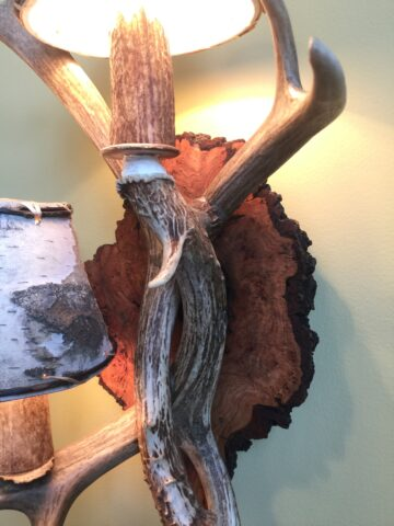 Antler sconce closeup