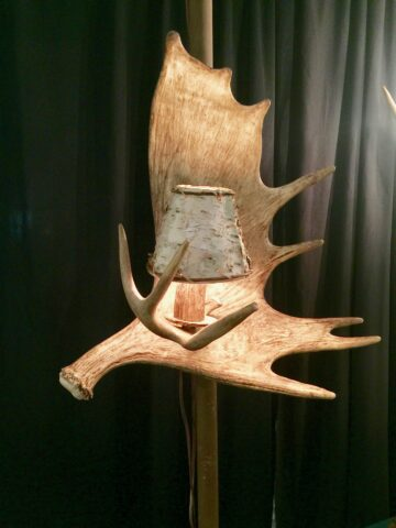 Sconce moose antler single light