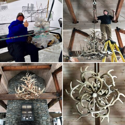 allyns lodge chandelier install