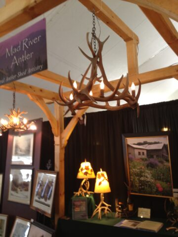 Oval elk chandelier